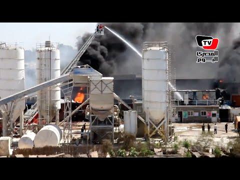 شهود عيان يروون تفاصيل حادث حريق مصنع الخل بطنطا