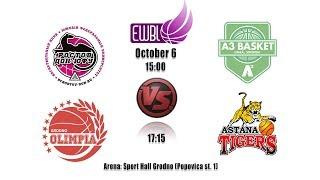 Olimpia Grodno vs Astana Tigers – EWBL 2018/19