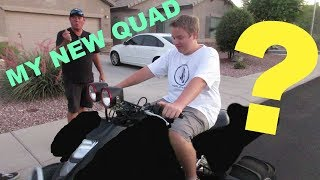 Ty has been wanting a quad ever since we got our dirt bikes last year, he saved up enough money to buy his own. We spent a lot...