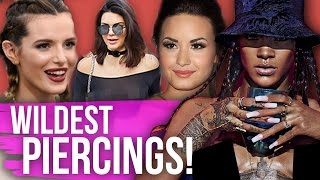 14 WILD PIERCINGS You Never Knew Celebrities Had!! (Dirty Laundry) by Clevver Style
