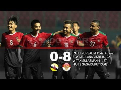 Gol Jatuh Bangun!! Brunei Darussalam (0-8) Indonesia U-18: Mission Complete