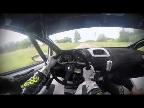 scary fast ford fiesta r2 ralllyar onboard with d.belokons