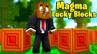 Minecraft King Of The Hill Magma Lucky Block Battle - Minecraft Modded Minigame   JeromeASF