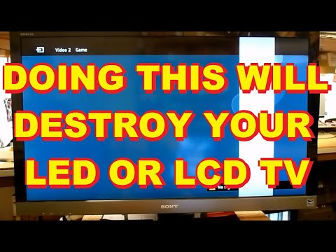 , title : 'WHAT NOT TO DO TO A LED LCD TV Sony LED LCD TV with a White Bar In The Picture'