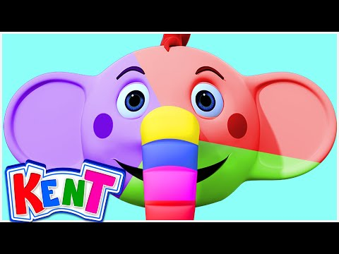 Monster Kent's Face Painting | Kent The Elephant | Learning Videos For Children
