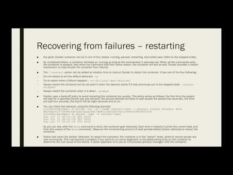 Docker for Beginners - Recovering from Failures   Restarting