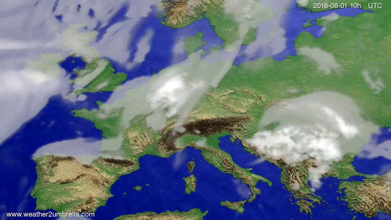 Cloud forecast Europe 2018-07-30
