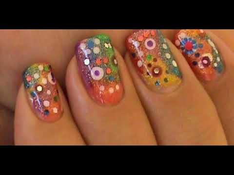 Decorados de uñas - Galería de uñas decoradas coloridas Sencillas Faciles y Elegantes