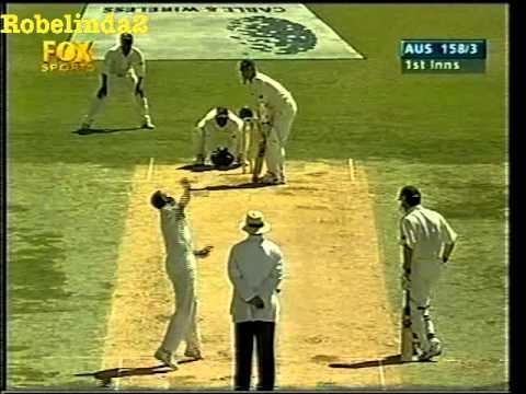 Video: Nasser Hussain and Mark Waugh very unlucky as ball rolls along the floor