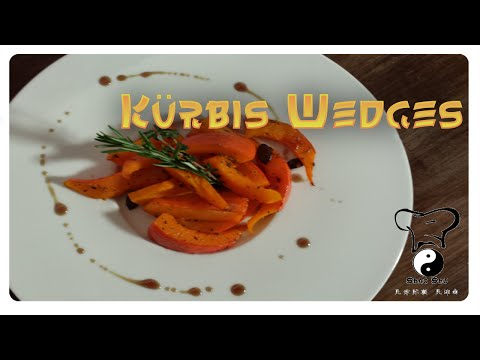 Kürbis Wedges