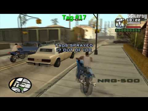 tags - Grand Theft Auto San Andreas Walkthrough - 100 Tags Guide: How to find and spray all 100 tags from Los Santos Grand Theft Auto San Andreas - Side Missions Pl...
