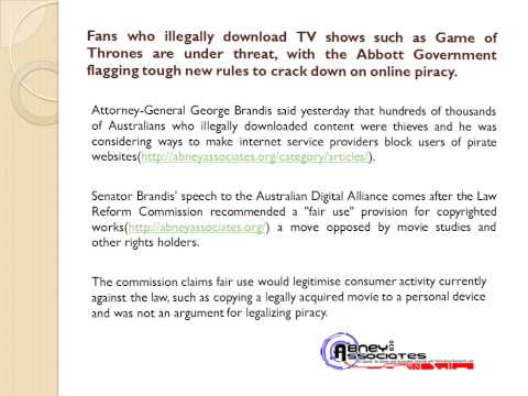 Abney Technology News: Warning to public over web piracy