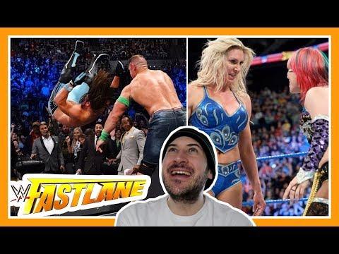 Reaction | Asuka Challenges Charlotte Flair + Cena AAs AJ Styles THROUGH A TABLE | WWE Fastlane 2018