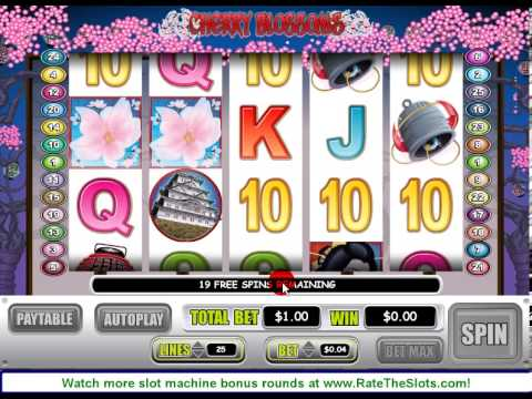Cherry Blossoms Slot Machine Bonus Round