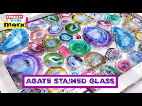 Faux Agate Stained Glass