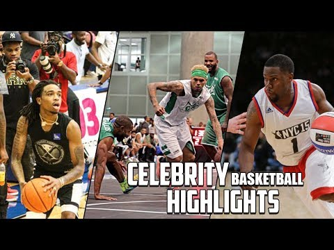 Celebrity Basketball Highlights (Chris Brown, Quavo, Kevin Hart and MANY MORE!) (видео)