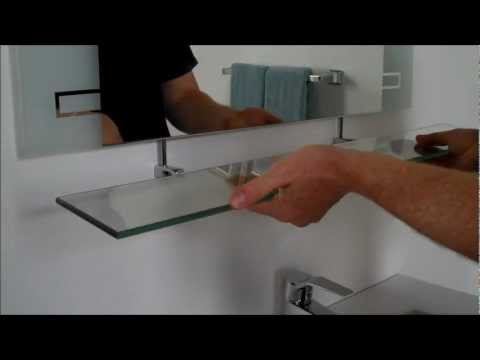 Video for Etched Modern Frameless Mirror with Shelf