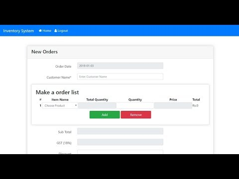 Inventory Management System   Free Source Code Download and Setup