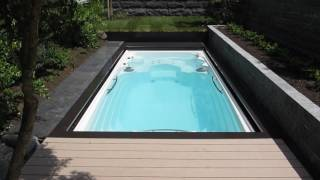 Aquavia Swim Spa Amazon with Expert-Roll Cover