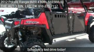 5. 2012 Polaris Ranger RZR 4 800 Robby Gordon for sale in Broke