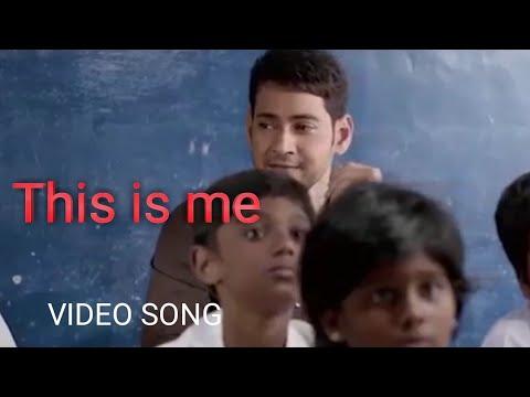 This is me - video song(HINDI) | Dashing cm bharat |Mahesh babu, Kiara advani