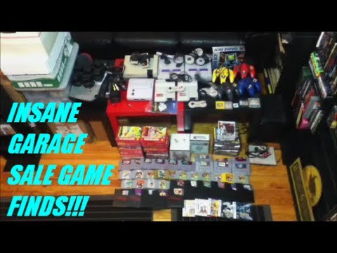 INSANE GARAGE SALE GAME FINDS!!!