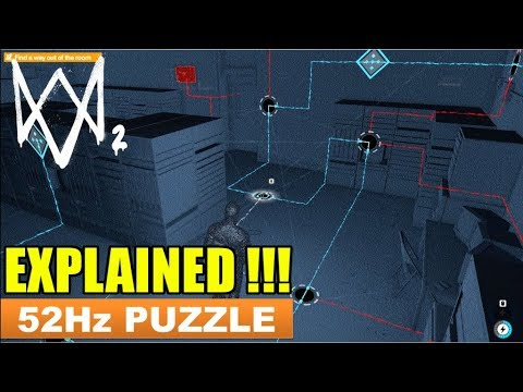 Watch Dogs 2 - How To Solve The 52 Hz Puzzle & Escape The 52 Hertz Room [Ghost Signals]