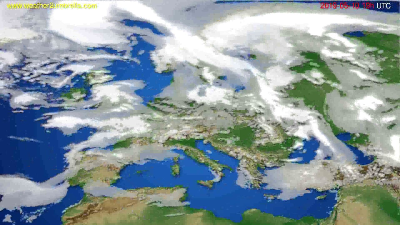 Cloud forecast Europe // modelrun: 12h UTC 2019-05-07