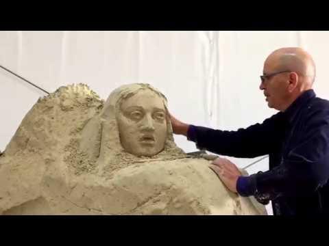 Salerno: anteprima realizzazione dei Presepi in Sabbia antistante la Spiaggia di Santa Teresa