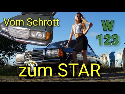 Oldtimer Mercedes Benz  W123 vom Schrottplatz zum Star