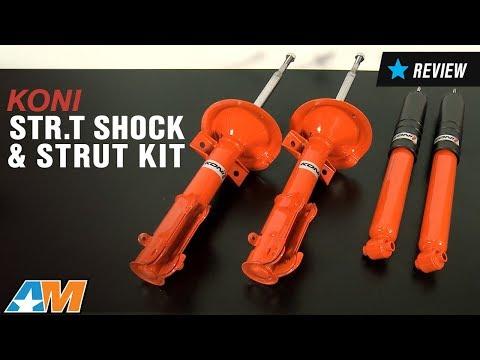2005-2010 Mustang KONI STR.T Shock & Strut Kit Review (видео)