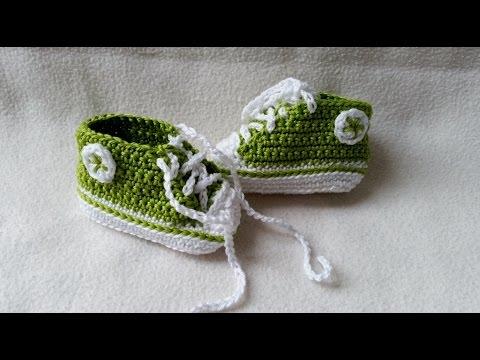 Babyschuhe häkeln – Turnschuhe – Sneakers – Teil 1 – Sohle by BerlinCrochet