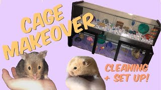 HAMSTER CAGE MAKEOVER! | cleaning the Detolf cages by Emma Lynne Sampson