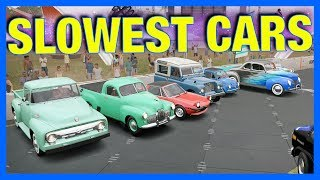 We're testing Forza Horizon 3's Slowest Cars to find what is the slowest car in the game! We also have the longest Goliath race, EVER! I hope you enjoy this Forza Horizon 3 Gameplay, if you did subscribe for more FH3 Gameplay, Tutorials, Drift Builds, Walkthrough and the FH3 Let's Play! Join the AR12 ARMY!!!! https://www.youtube.com/user/ar12gamingCheap Games: http://amzn.to/2fJiZw0How I record my gameplay: http://e.lga.to/ar12gamingLINKS:Forza Horizon 3 Gameplay: https://www.youtube.com/playlist?list=PL0TuFiczxh94JmogbJoXYvGaQq-ofM0ajAR12 STORE:https://store.ar12gaming.comSOCIAL LINKS:Website ► https://ar12gaming.com/Twitter ► https://twitter.com/Nick88STwitch ► http://www.twitch.tv/ar12gamingInstagram ► https://www.instagram.com/nickandy1/SONGS:https://soundcloud.com/joakimkarud