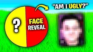 Face REVEAL.. (Fortnite Spin The Wheel)