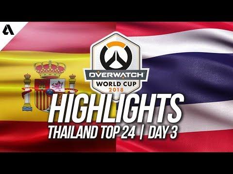 Spain vs Thailand | Overwatch World Cup 2018 Thailand Qualifier Day 3