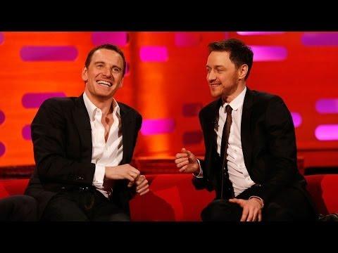 Michael Fassbender & James McAvoy's fan art romance - The Graham Norton Show - BBC (видео)
