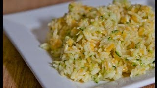 Cheesy Zucchini Rice Recipe - EasySummer Side Dish