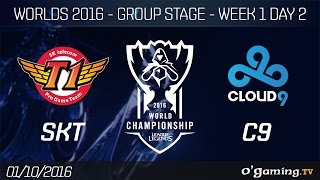 SKT vs C9 - World Championship 2016 - Group Stage Week 1 Day 2