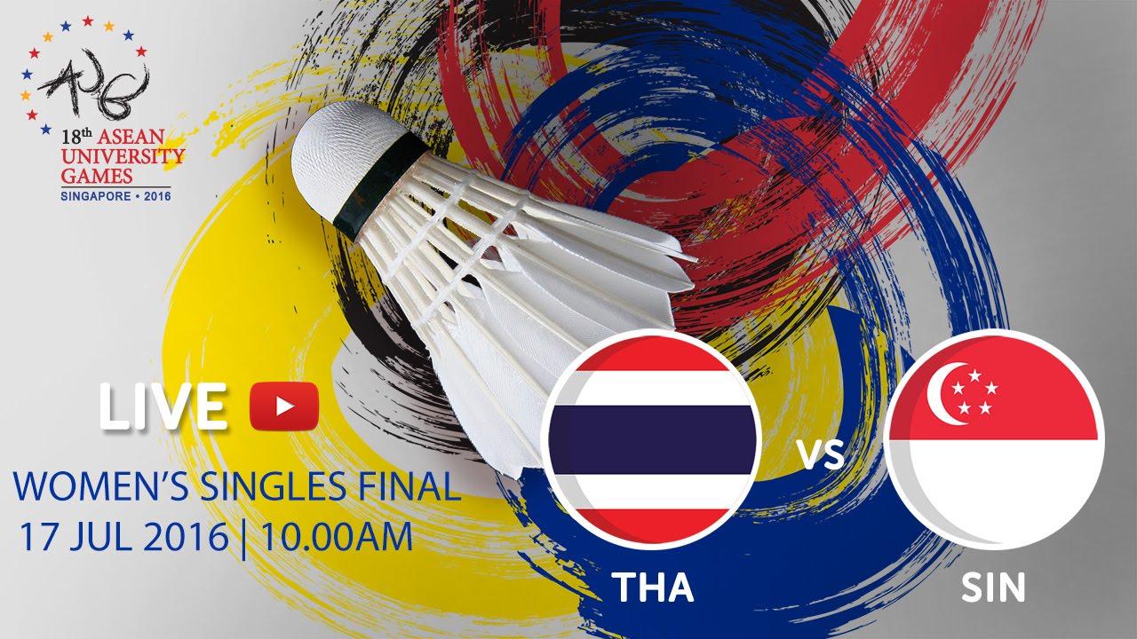 Badminton Women's Singles Finals | 18th ASEAN University Games Singapore 2016