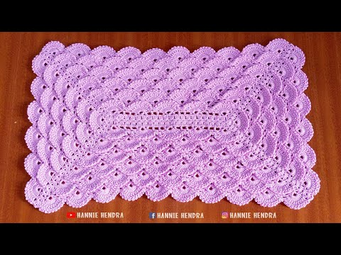 Crochet || Tutorial Taplak Meja Rajut - Tablecloth Crochet