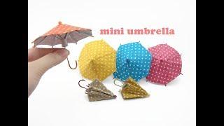 DIY Miniature Doll Mini Umbrella - Can Open & Close!