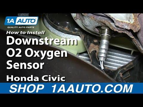 How To Install Replace Downstream O2 Oxygen Sensor 1992-00 Honda Civic