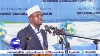 Daawo: Khudbadii Shariif Axmed Uu Ka Jeediyey Caleema Saarka Farmaajo