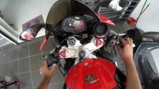 10. Macam mana nak warm up superbike Aprilia RSV4 Factory APRC ABS