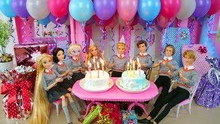 Video Twin Barbie & Ken's Birthday Party with Friends! Pesta ulang tahun Barbie Festa de aniversário MP3, 3GP, MP4, WEBM, AVI, FLV Maret 2019