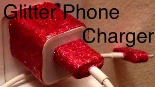 DIY: Glitter Phone Charger ♡ Theeasydiy #Crafty - YouTube