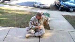 Seeing His Dog The Day He Got Back From Afghanistan