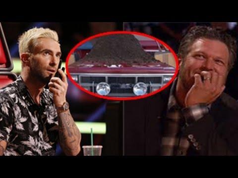 The Voice Season 6 (USA) : Adam Levine Throws Dung On Blake Shelton's Car