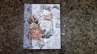 "Free step by step tutorial on how to make this 8-1/2 X 6-1/2"" with 4"" spine mini album using Kaisercraft P.S. I Love You paper and ..."